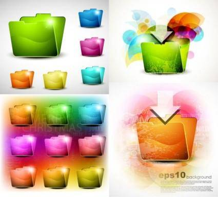 Brilliant crystal texture folder vector