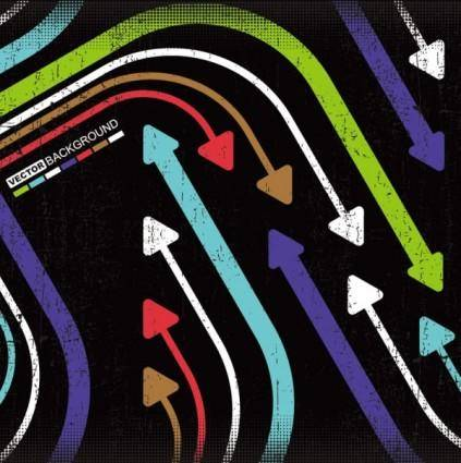 free vector Trend of colored arrows 01 vector