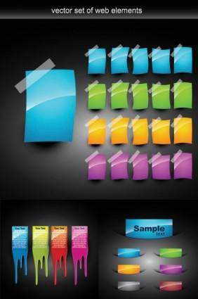 Web design colorful decorative elements vector