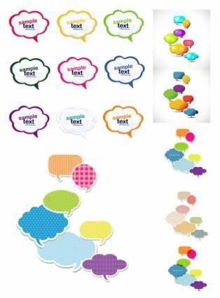 free vector Vector colorful cute dialog
