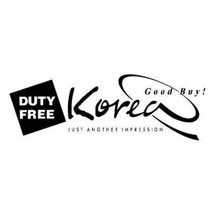 free vector Duty free korea