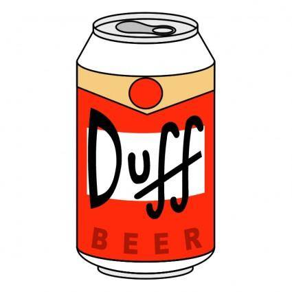 free vector Duff beer
