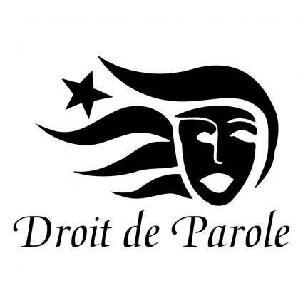 free vector Droit de parole