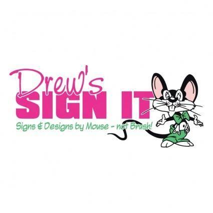 free vector Drews sign it 0
