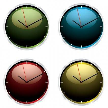 free vector Crystal clock vector