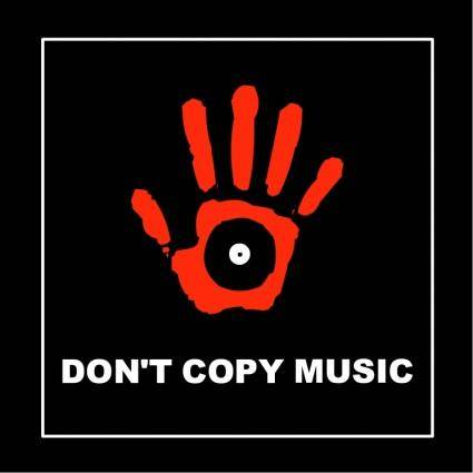 free vector Dont copy music