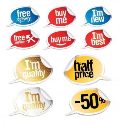 free vector Vector stickers dialogue bubbles