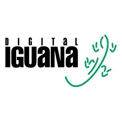 free vector Digital iguana