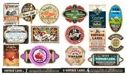 free vector Vector retro label