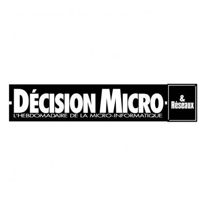 Decision micro reseaux 0