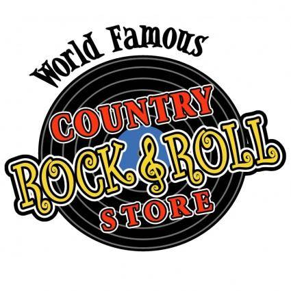 free vector Country rock n roll store