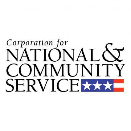 free vector Corporation for national and community service