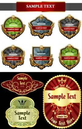 free vector Europeanstyle vector bottle label affixed