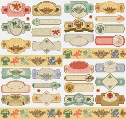 free vector Classical label graphics vector 2
