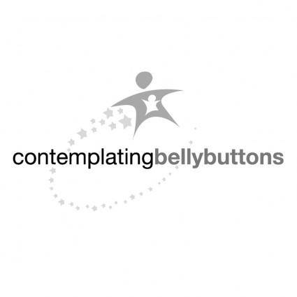 free vector Contemplatingbellybuttons