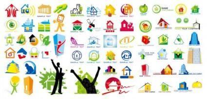 free vector House theme logo graphics vector