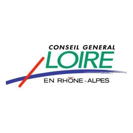 free vector Conseil general loire en rhone alpes