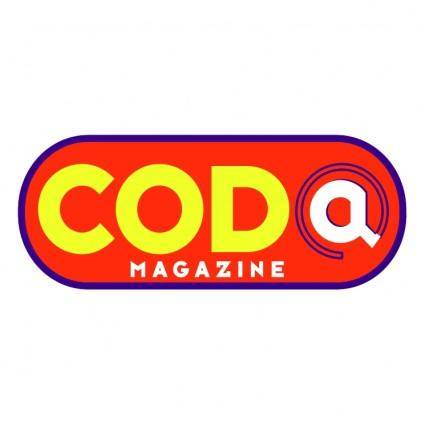 free vector Coda magazine