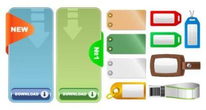 free vector 2 sets of tag tag vector