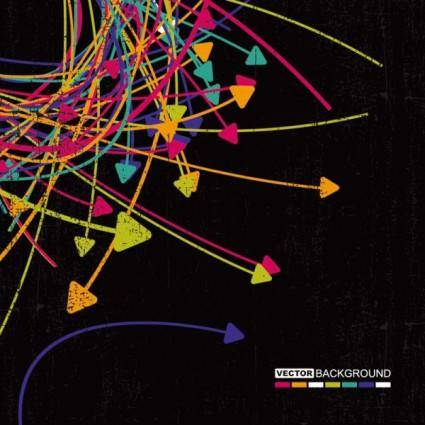 free vector Trend of colored arrows 09 vector
