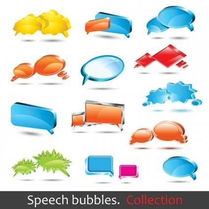 free vector Dialogue bubble logo vector