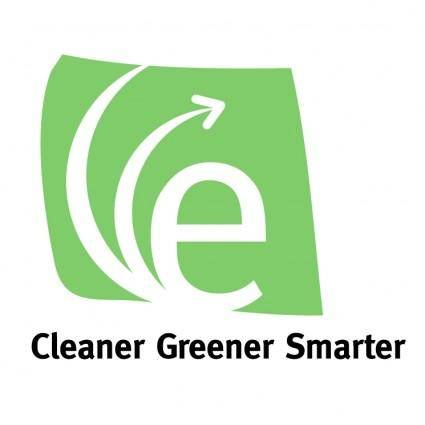 free vector Cleaner greener smarter
