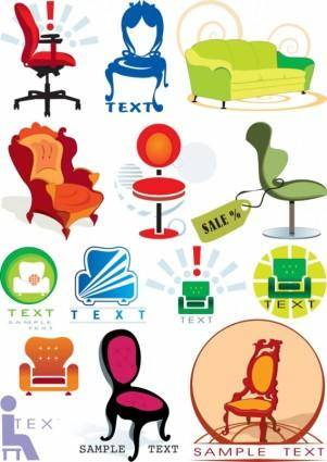 Vector graphics theme chair