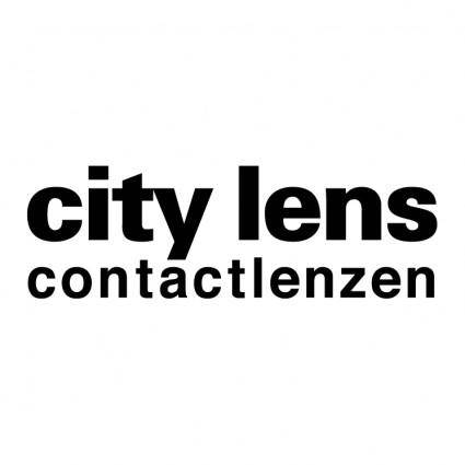 free vector City lens