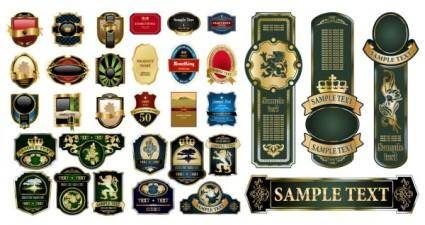 free vector Variety of european label vector