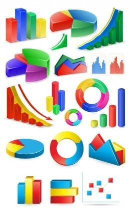 free vector Threedimensional statistics vector
