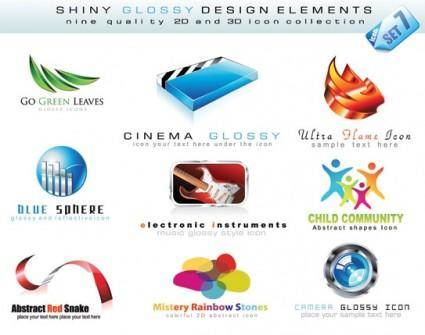 free vector 3d style logo template vector nonoriginal works