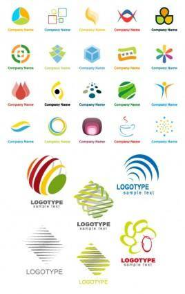 Variety of graphic logo template vector
