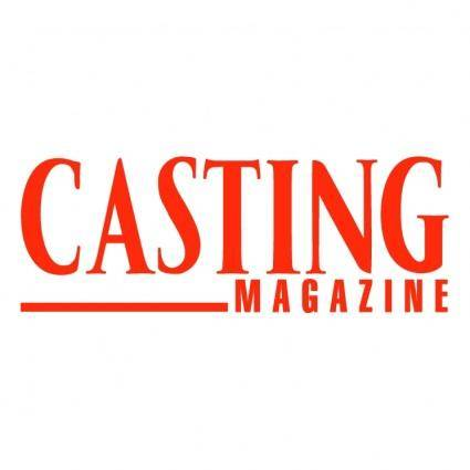 free vector Casting magazine