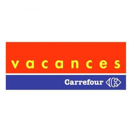 free vector Carrefour vacances