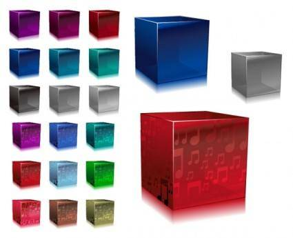 free vector Vector colorful cube
