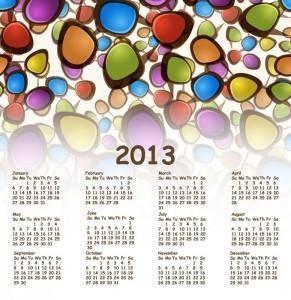free vector 2013 calendar vector