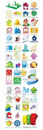 free vector More than 50 small houses of the style vector