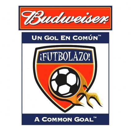 free vector Budweiser futbolazo