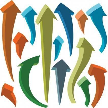 free vector Threedimensional dynamic arrow vector