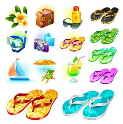 Sea travel goods vector