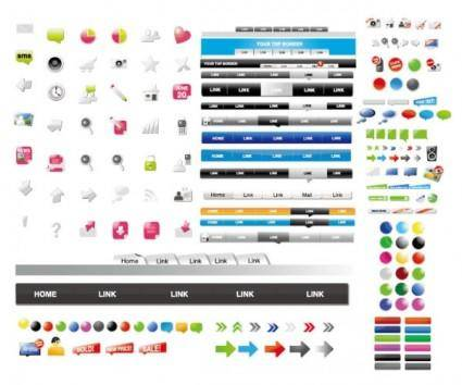 Web design elements vector used