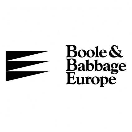 free vector Boole babbage europe