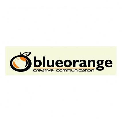 free vector Blue orange creative communication