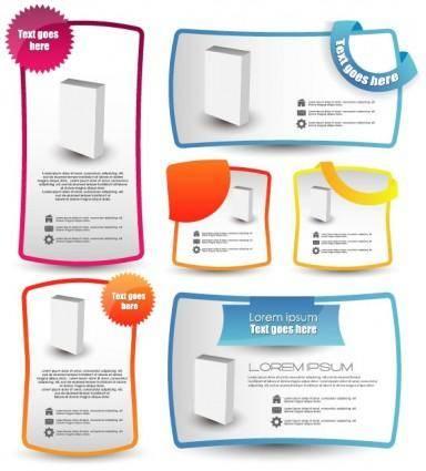 free vector Trend label stickers 03 vector