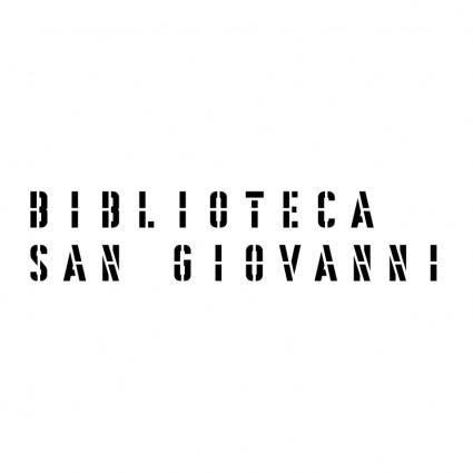 free vector Biblioteca san giovanni 1