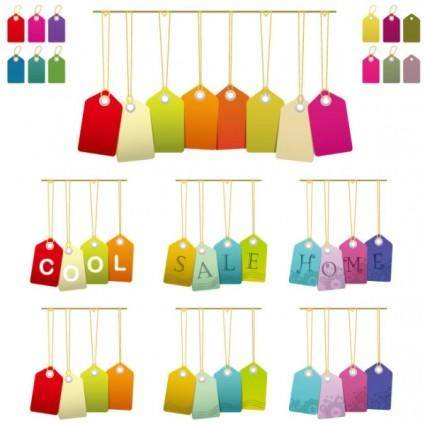 free vector Variety of color tag vector