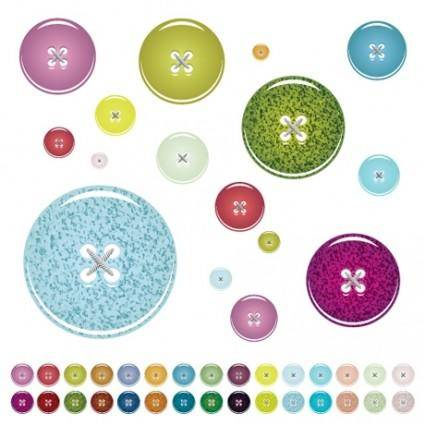 free vector Vector colorful buttons