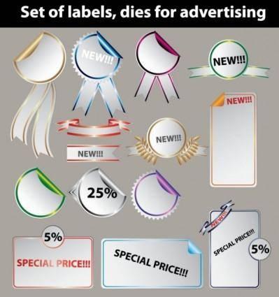 free vector Sales stickers vector