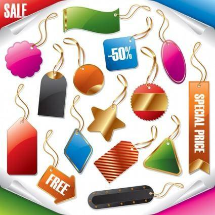 Vector sale tag tag