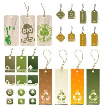 Variety of environmental tag vector